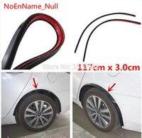 1 pair Car Fender Flare Wheel Eyebrow 2pc117cm Protector Lip Wheel arch Trimfor for vw passat b5 b6 polo