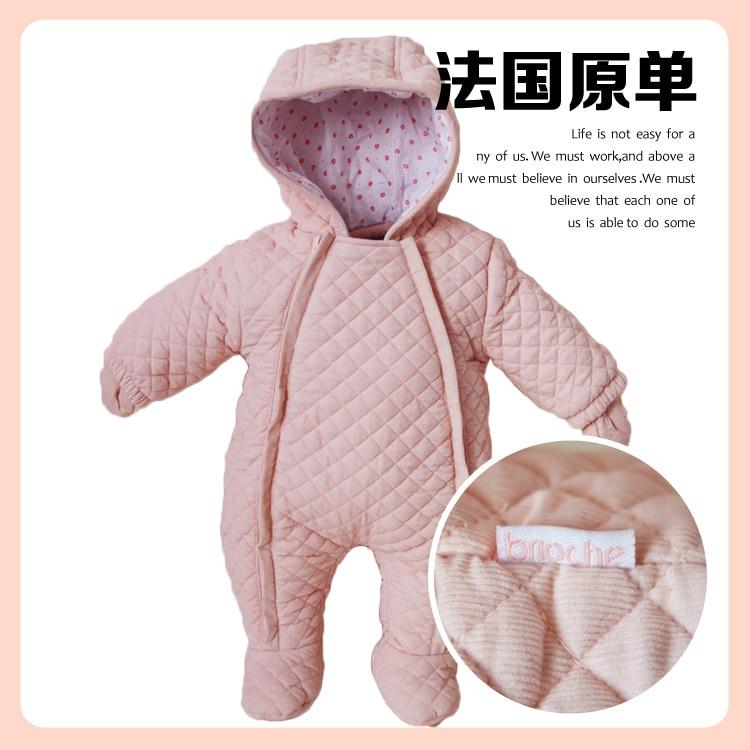 53b0a183b Aliexpress.com   Buy 2017 Winter newborn baby girl Romper pink ...