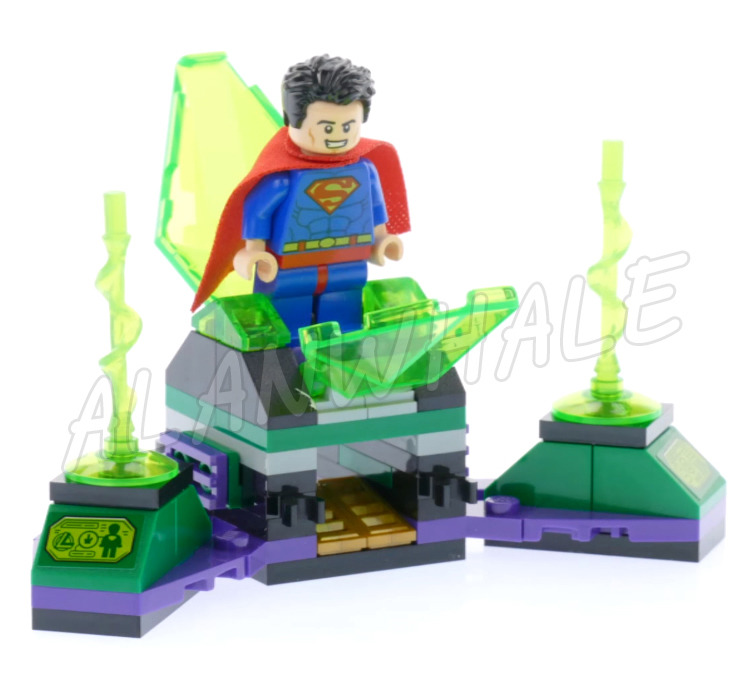 223pcs Super Heroes Superman & Krypto Team-up Space Hog Kryptonite Prison 07091 Model Building Blocks Toys Compatible With lego