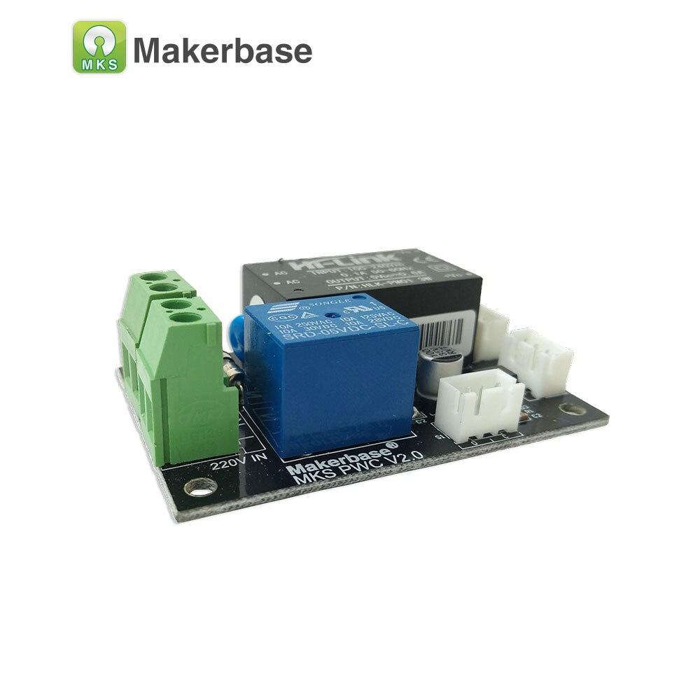 MKS PWC V2.0 Makerbase 3D impresora accesorios auto después de la impresión de acabado final de módulo de apoyo Marlin Smoothieware