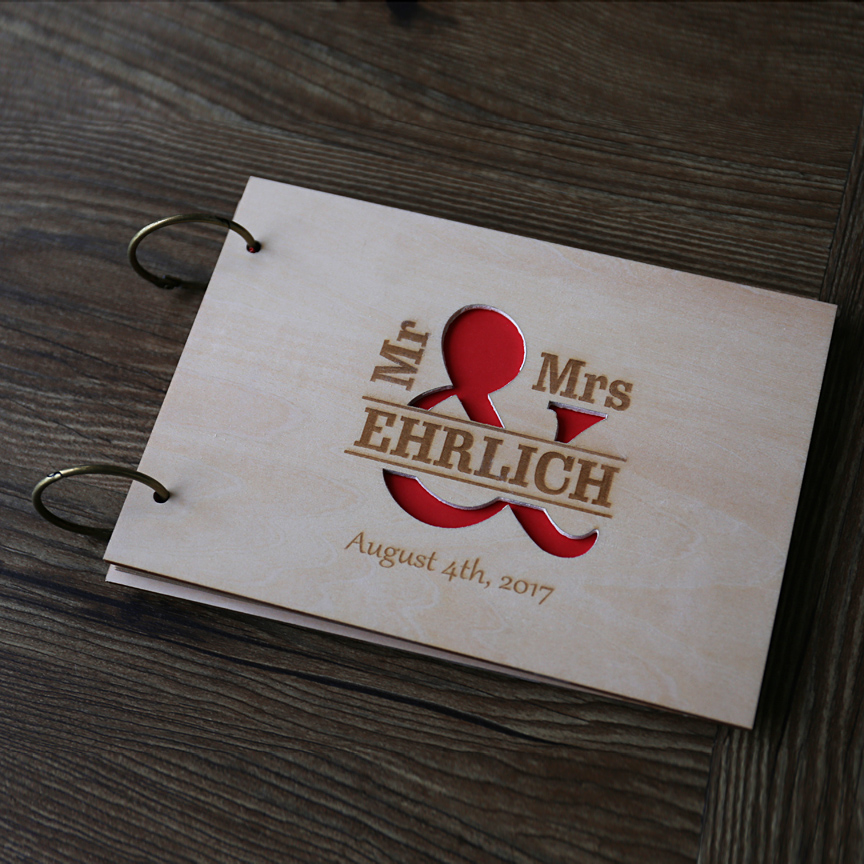 Wedding Wooden Guest Book Rustic Theme Wedding Guest Book Engraved Custom Guest book