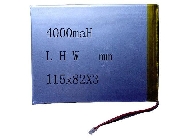 Generico super sottile potente 4000 maH batteria per talbet L H W: 115x82x3mm