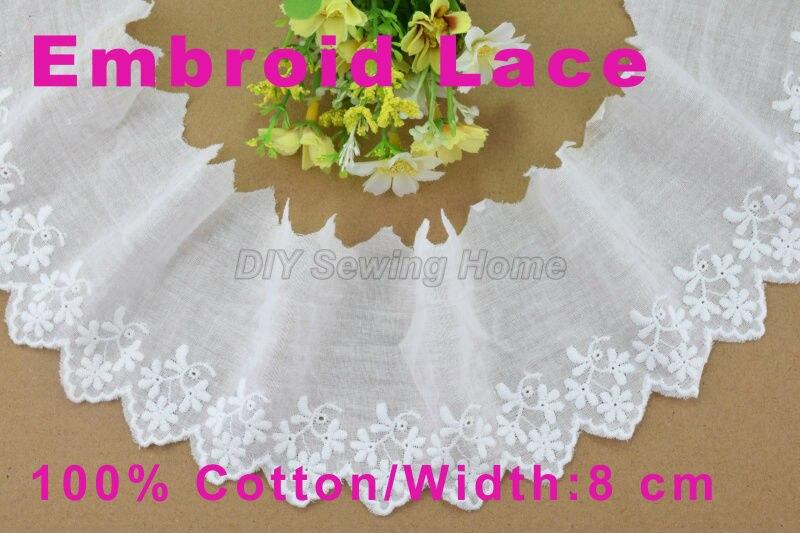 ᐂ8 cm ancho 100% algodón bordó tela del ajuste del guipure de la ...