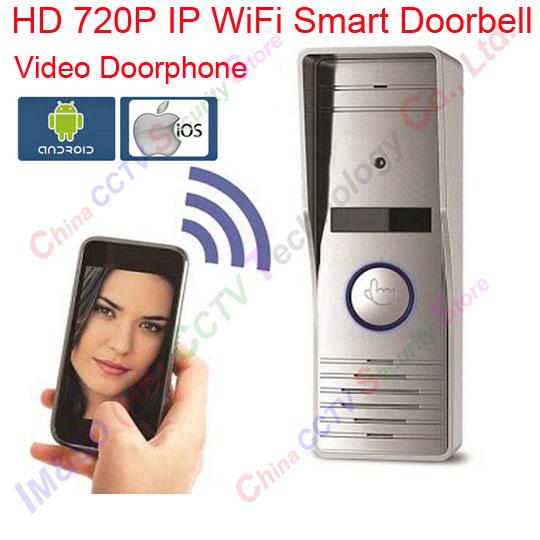 bilder für WiFi Smart Video Türsprechanlage HD Ip-kamera Drahtlose Video-gegensprechanlage Wasserdichte Iphone Android APP Mobile Türklingel