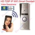 Wifi inteligente hd ip cámara inalámbrica de vídeo portero automático sistema de intercomunicación de vídeo timbre impermeable iphone android app móvil