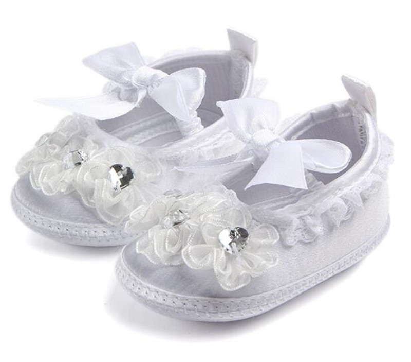 Lovely Flower Baby Shoes Infants Soft Sole Crib Shoes Girls Princess Shoes First Walkers