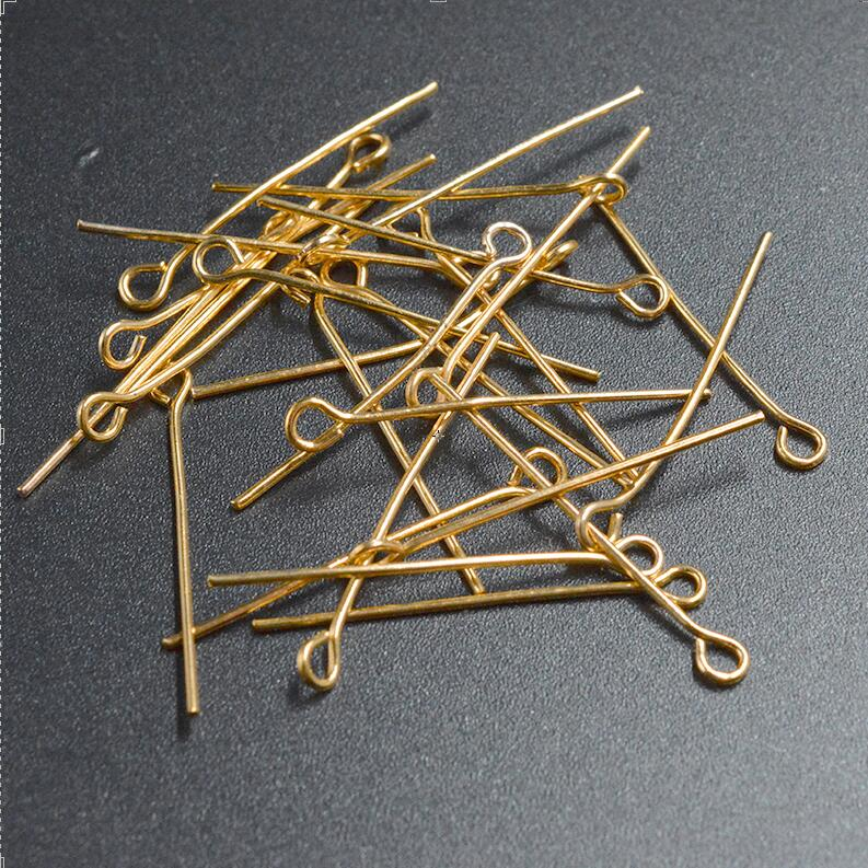 FLTMRH 50pcs 30x0.7mm   Round Head Eye Pins Needles Jewelry Findings Components