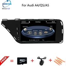 7 Pouce Numérique Écran Tactile Voiture Lecteur DVD GPS Pour Audi A4/A5/Q5 (2009-2015) avec Navigation/Bluetooth/Garder original CD, Radio