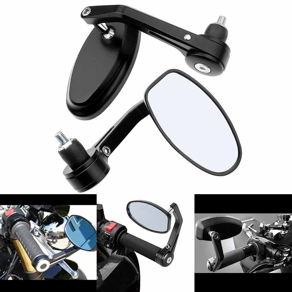"2X Adjustable Heavy Duty Motorcycle Street Bike Bar End Mirrors 7/8""  22mm for BMW Suzuki Yamaha Honda Kawasaki Buell Ducati"