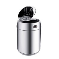 1 5L Mini Cans Shape Stainless Steel Garbage Touchless Automatic Car Dustbin Small Kitchen Sensor Trash