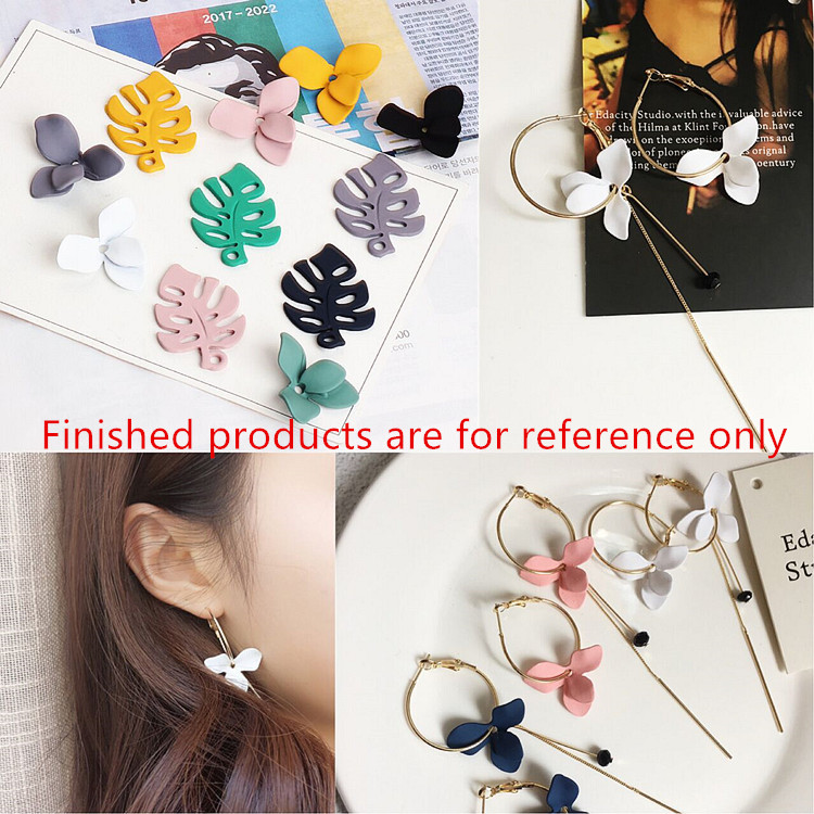 New arrived 30pcs/lot alloy Rubber Spray painting cartoon leaves/flowers shape floating locket charm diy jewelry earring pendant