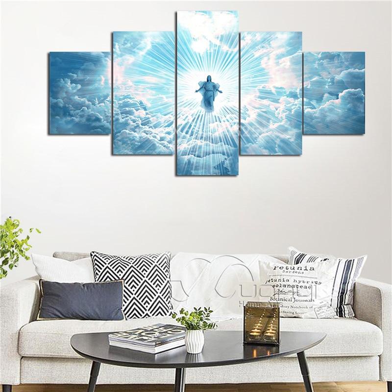 Christian Canvas Wall Art Modular 5 Pieces \