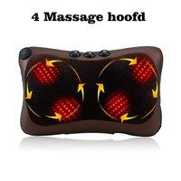 Neck Massager Car Home Shiatsu Massage Neck Relaxation Back Waist Body Electric Massage Deep Kneading Pillow Cushion Hot Sale