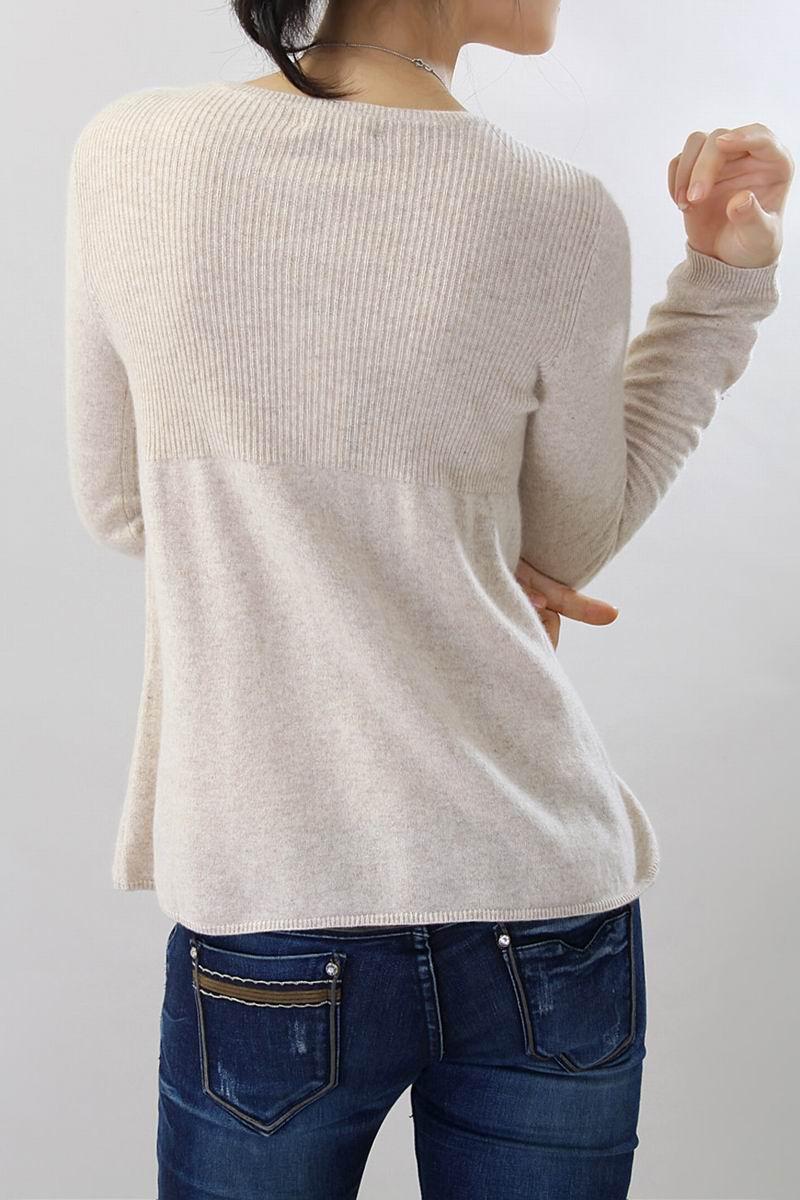 100�shmere Sweater Women O Neck Coffee Cardigan Natural Fabric ...