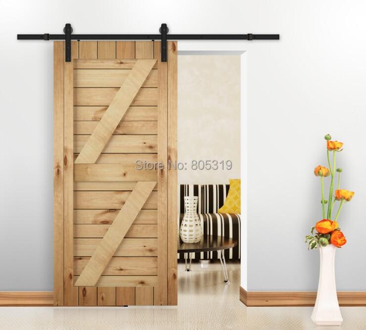 Rustic Vintage  Single Door Plate Sliding Barn Door Hardware Barn Door Track System