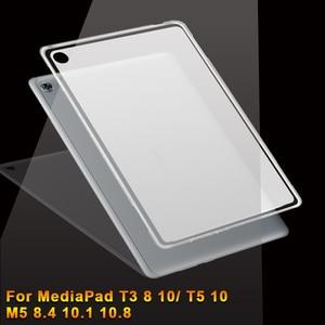 Силиконовый чехол для huawei MediaPad T3 T5 10 8 M5 8,4 Lite 10,1 Pro 10,8 мягкий чехол для планшета из Уретанового термопластика чехол для медиа-планшета M5 8,4 10,1 10...