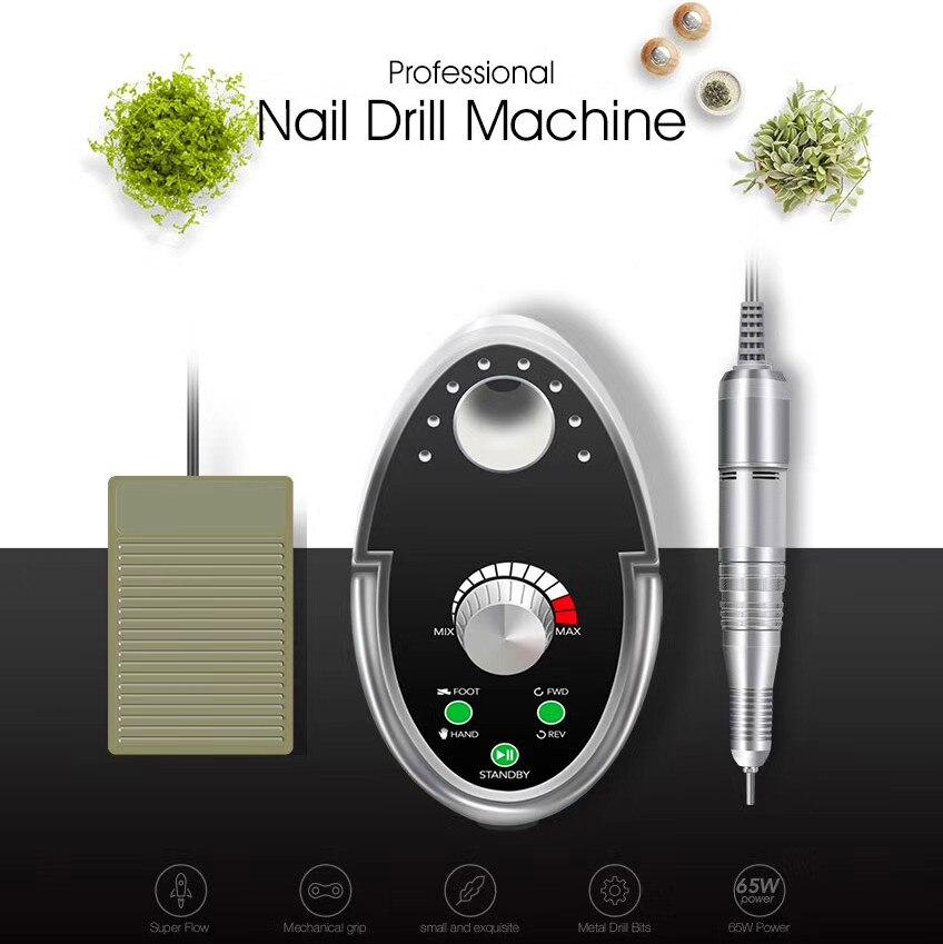 Cappucci 65W Nail Drill Manicure Set 35000RPM Machine For Manicure Pedicure Files Nail Art Polish Cutters
