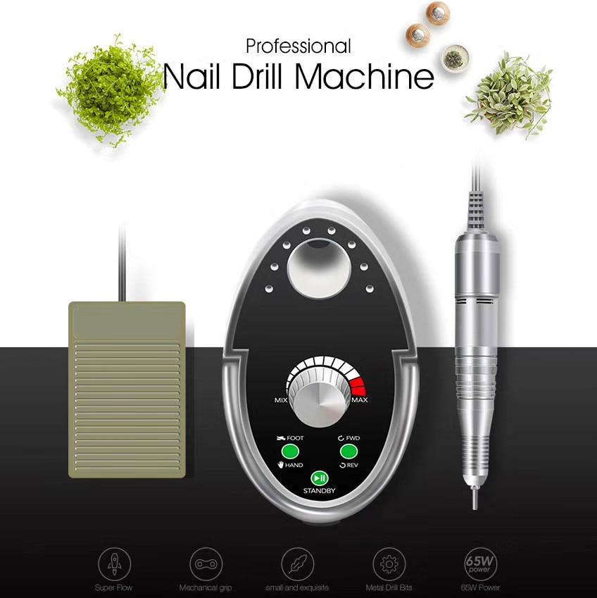 Cappucci 65W Nail Drill Manicure Set 35000RPM Machine For Manicure Pedicure Files Nail Art Polish Cutters For Manicure nail cutters set with bag