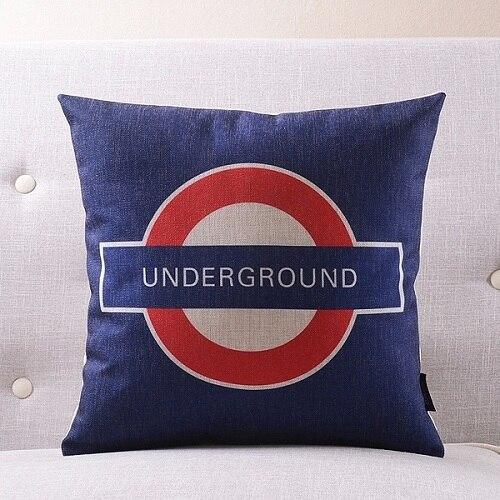 Лондон подземный Подушка Чехол постельное белье из хлопка с надписью «Keep Calm and носить на заказ накидки на подушки 45х45см наволочка для дома Спальня Диван украшения - Цвет: 6