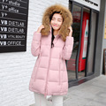 Down & Park 2017 Autumn Winter Coats Womens Hooded Cotton Warm Thickening Jackets Zipper Female Coat  LHWY103