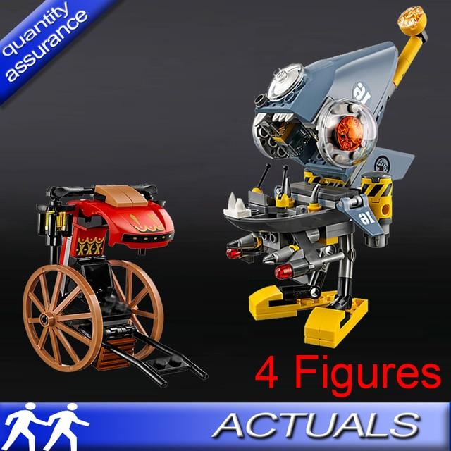 US $6 44 |Lepin 06068 Piranha Attack Building Blocks Movie Piranha Mech  Model Bricks Kids DIY Educational Toys Compatible with Lego 70629-in Blocks