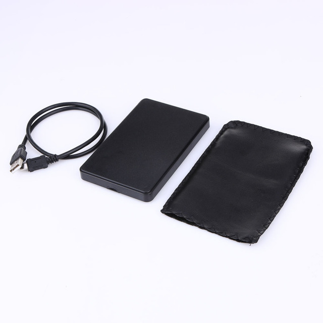 HDD Case Slim Portable 2.5 HDD Enclosure USB 2.0 External Hard Disk Case Sata to USB Hard Disk Drives HDD Case With USB Cable