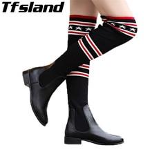 Женские носки; Сапоги выше колена; сезон осень-зима; плетеные туфли; высокие эластичные облегающие сапоги до бедра; прогулочная обувь; кроссовки