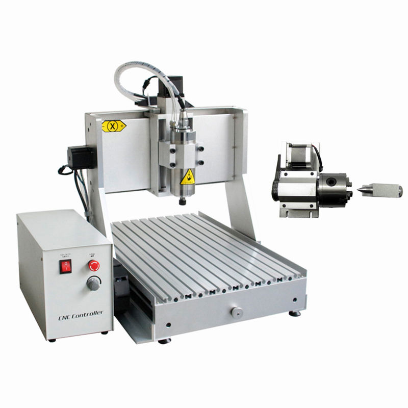4 axis cnc milling machine 6040 1500W spindle 3d wood router with USB port and free cutter