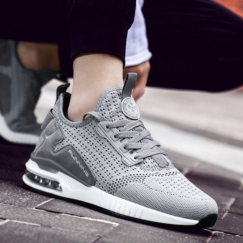 2019 Spring New Sneakers Man Summer Running Shoes Man for Adults Trainers Lace-up Outdoors Athletic Comfortable Sport Shoes