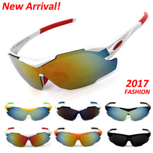 Obaolay 2017 New Cycling Sunglasses  Men Women Bike Bicycle Eyewear Outdoor Sports Windproof UV400 Goggles Cycling Sun Glasses