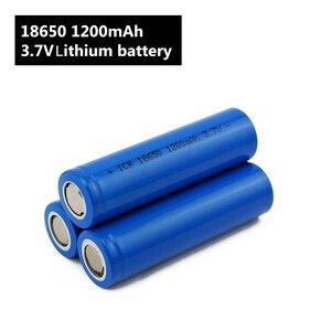 Image 4 - Torcia elettrica 18650 Batteria 3.7 V 1200 mah batteria Ricaricabile agli ioni di Li per Accumulatori e caricabatterie di riserva/e Bici 18650 Batterie pack (1 pc)
