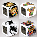 One Piece Digital Clock Square LED Colorful Alarm Night Light Electronic Clock Japanese Anime Toys #EA