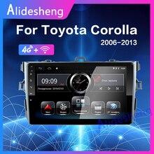4G Android 8,1 автомобильный мультимедийный плеер для Защитные чехлы для сидений, сшитые специально для Toyota Corolla E140/150 2006 2007 2008 2009 2010 2011 2012 2013 gps навигация 2 din