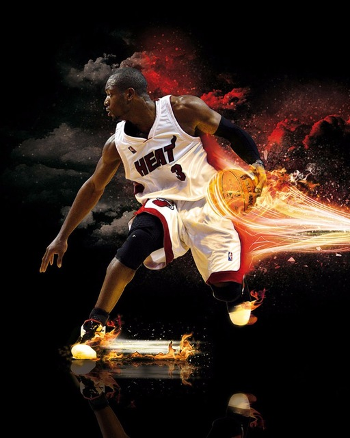 fb448684a Dwyane Wade Miami Heat Super Star Silk Poster Art Bedroom Decoration 1657