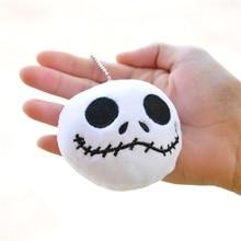 Chains Plush-Toy Skeleton Christmas-Gifts Small Pendant Doll-Key Black 1pcs Jack Skull