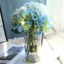 1 piece Artificial snow single branch hydrangea flower made wedding bouquet decoration or DIY Production backdrop with flowers