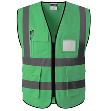 цены на Green Reflective Vest Reflective Safety Clothing Workplace Road Working Motorcycle Cycling Sports Outdoor Print LOGO #002  в интернет-магазинах