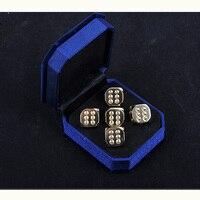5 PCS Set Full Copper Digital Dice 13 13mm Dice Standard Six Sided Decider Board Game