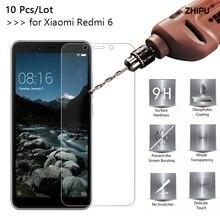 10 Pcs/Lot 2.5D 0.26mm 9H Premium Tempered Glass For Xiaomi Redmi 6 Screen Protector protective film