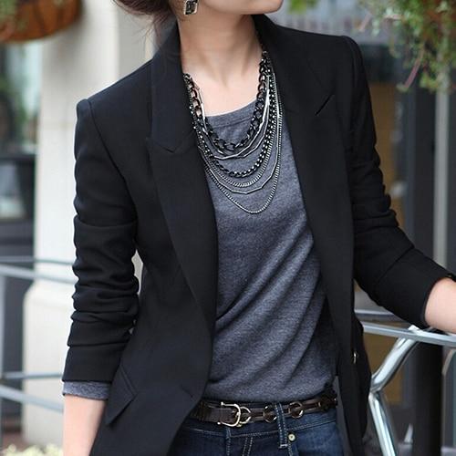 Women's Fashion One Button Slim Casual Business Blazer Suit Jacket Coat Outwear