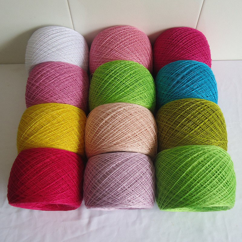 hilos de bordar Mercerized Cotton Crochet Lace Yarns For Hand Knitting Luxury Summer Clothes Yarn Glowing Thread 250g breiwol partes del cable coaxial
