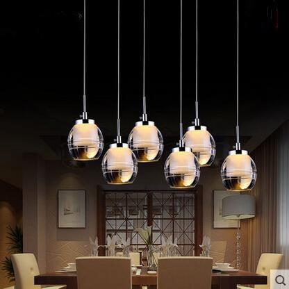 Led Acrylic Creative Pendant Lights Glass Lampshade