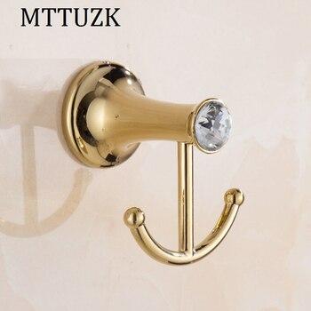 Mttuzk Goldenchrome Rvs Robe Haken Muur Haak Kleerhanger Handdoek