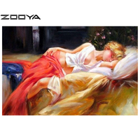DIY 3D Diamond Painting Rhinestones Cross Stitch Scroll Painting Canvas Oil Half-naked women Home Deco Beauty Art Picture AT248