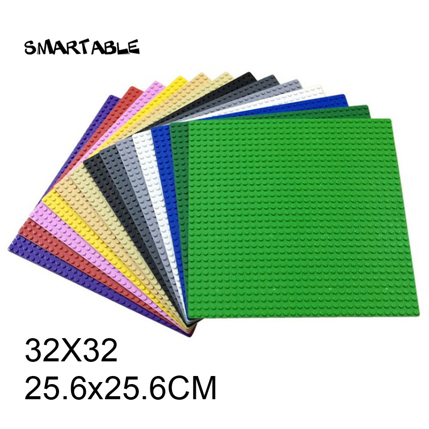 Smartable <font><b>Baseplate</b></font> <font><b>32X32</b></font> for Small Bricks DIY Building Blocks Part toys Compatible All Brands 3811 Christmas Gift 3pcs/lot image