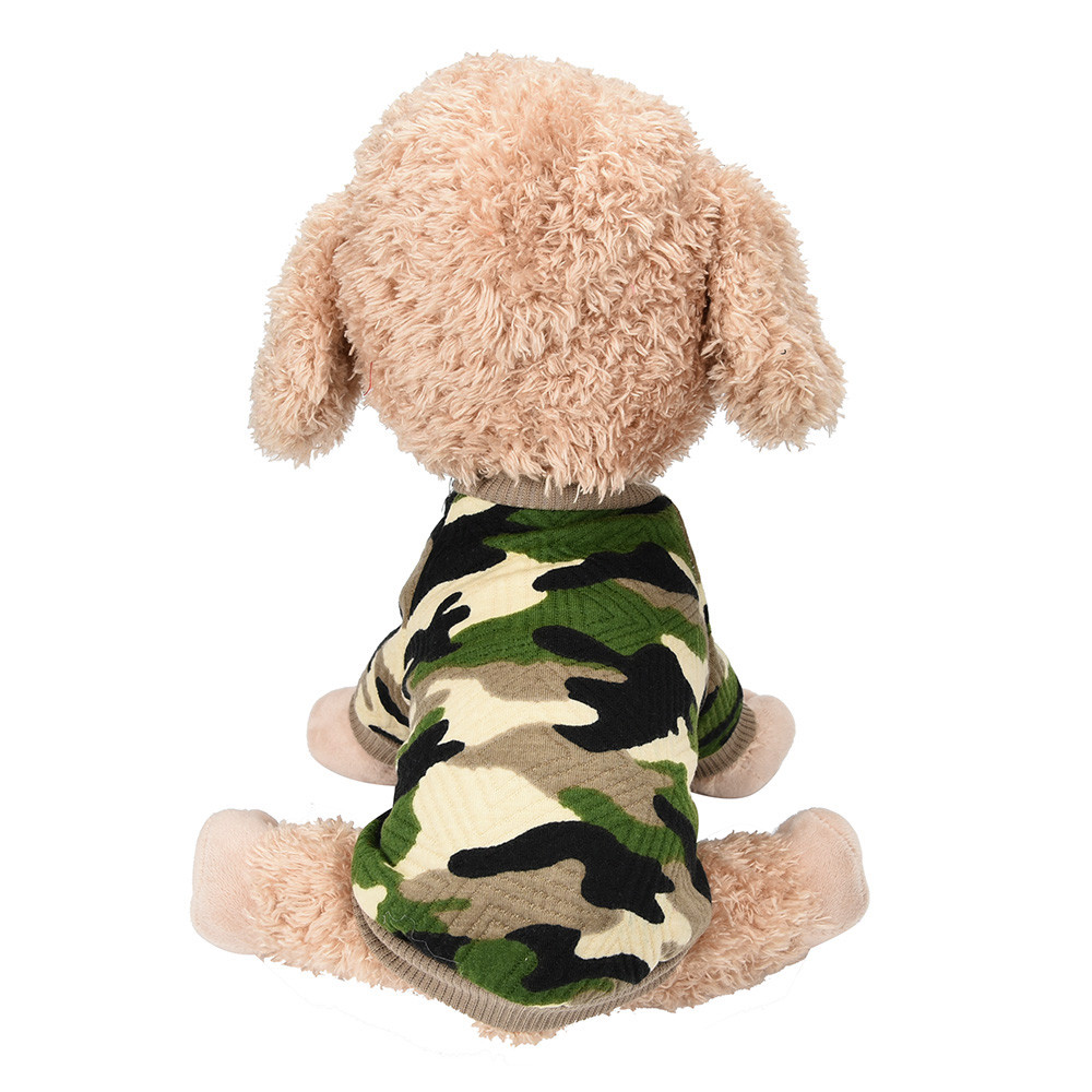Summer Pet Puppy Camouflage T-shirt Clothes Small Medium Large Dog Cat Chihuahua Teddy Bulldog Vest Clothing 2018 Winter Warm
