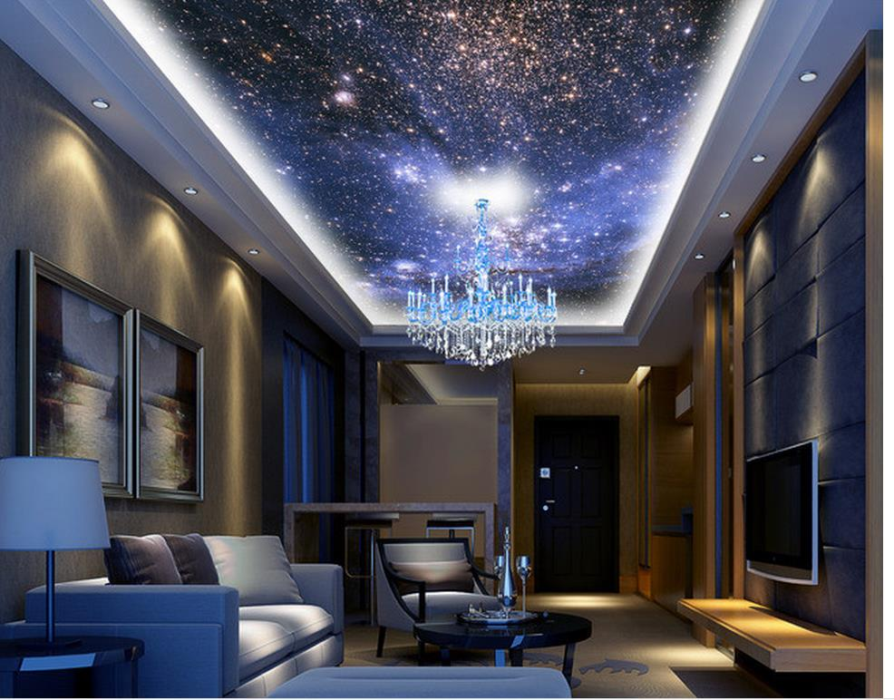 customized wallpaper for walls home decoration night sky zenith ceiling design sky ceiling. Black Bedroom Furniture Sets. Home Design Ideas