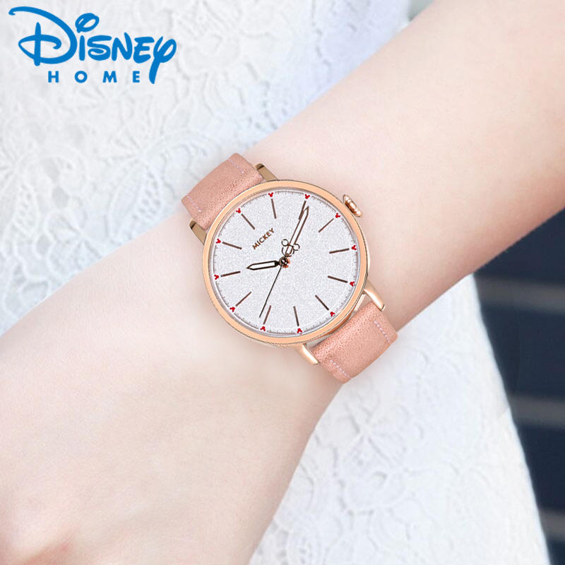 DISNEY Fashion Women Watches Top Brand Luxury Quartz Wrist Watches for Woman 2017 Leather Ladies Watch Female Clock montre femme woman watches luxury brand quartz watches ladies watch women fashion