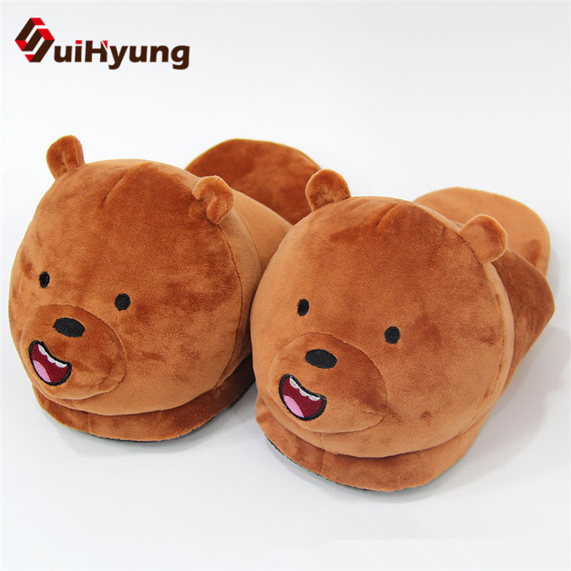 Suihyung New Winter Warm Home Slippers Woman Indoor Shoes Flat Slippers Bedroom Soft Bottom Silent Floor Shoes House Plush Shoes warm at home women slippers cotton shoes plush female floor shoes candy color soft bottom fleece indoor shoes woman home slippe