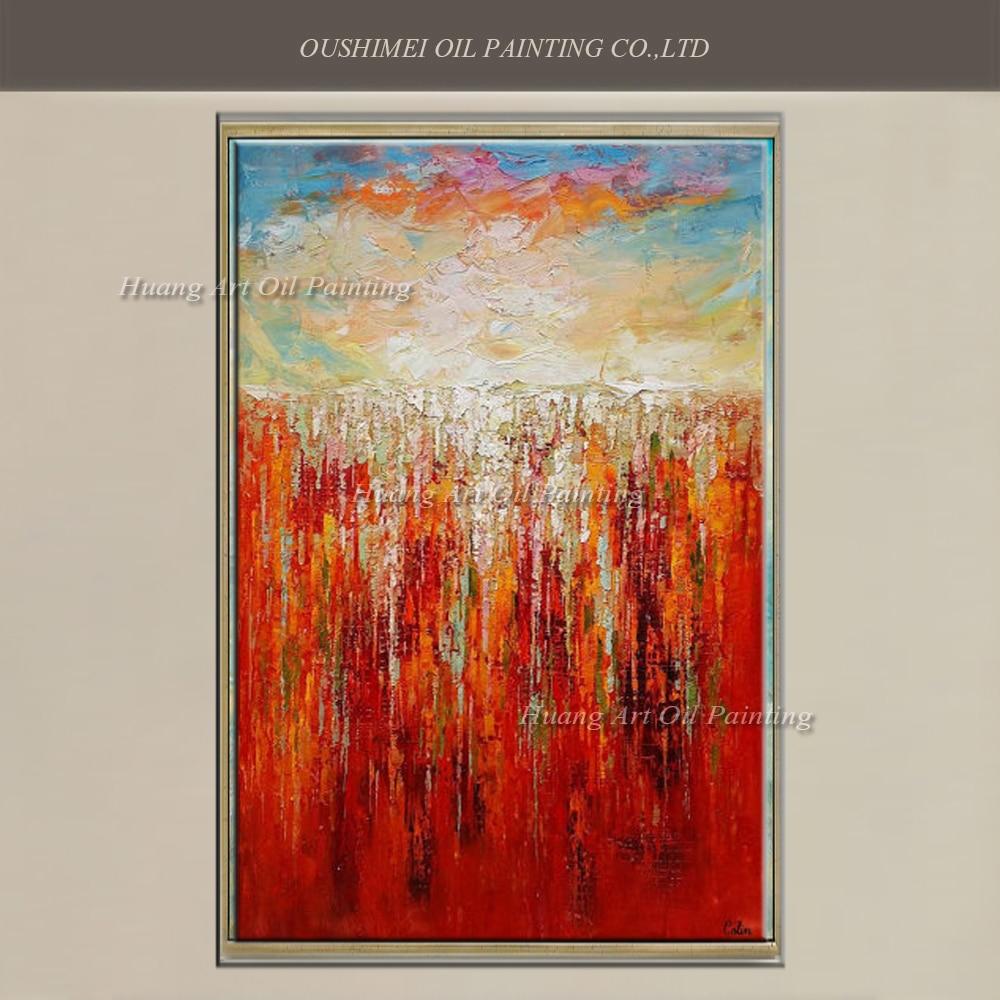 ��groothandel rood abstract art schilderen handgemaakte